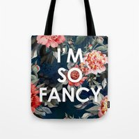 iggy azalea Tote Bags featuring I'm So Fancy Iggy Azalea Inspired Watercolor Blush Peonies Art Print by payalprints