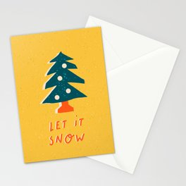 "Christmas and New Year card ""Let it snow"" Stationery Cards"
