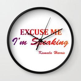 excuse me i'm speaking kamala harris Classic Wall Clock