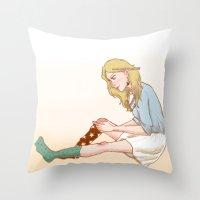 luna lovegood Throw Pillows featuring Luna Lovegood by zeina
