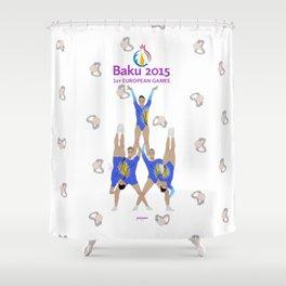 Baku2015 Shower Curtain