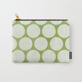 green and white polka dots Carry-All Pouch