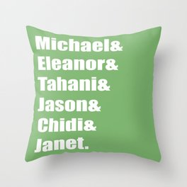 The Good Names Throw Pillow