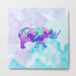 Abstract Rhino B Metal Print