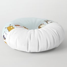 Winter forest animals Floor Pillow