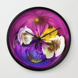 304 - Flower Fruit abstract design Wall Clock