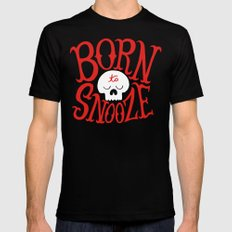 Born to Snooze Black Mens Fitted Tee 2X-LARGE