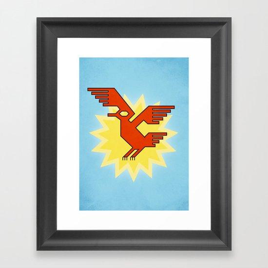 Geometric Andean Condor Bird Framed Art Print
