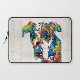 Colorful Great Dane Art Dog By Sharon Cummings Laptop Sleeve