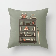 Zelda Shelf // Miyamoto Throw Pillow
