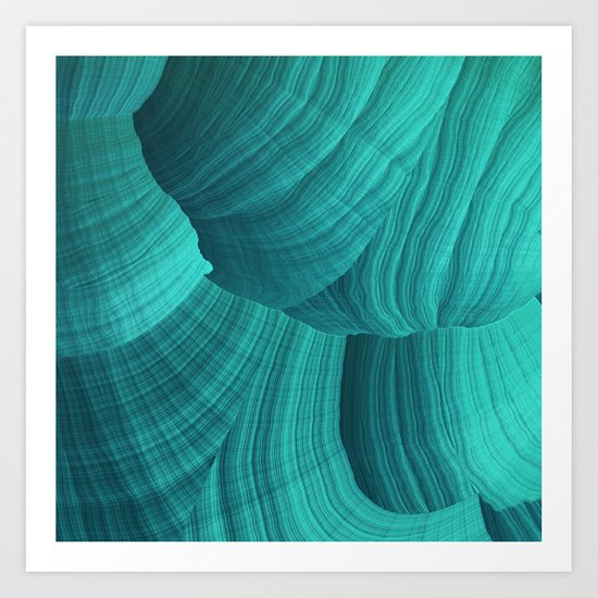 Turquoise Sediment Art Print