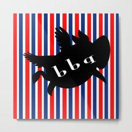 BBQ flying pig Metal Print