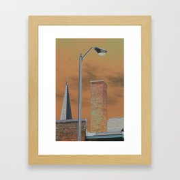 Solarized images of North Adams and Berkshire County Framed Art Print