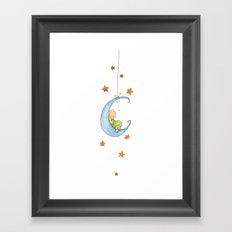 Baby moon Framed Art Print