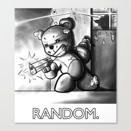 Random: Teddy's Last Stand Canvas Print