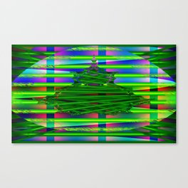 Fraktal and stripes Canvas Print