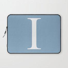 Letter I sign on placid blue background Laptop Sleeve