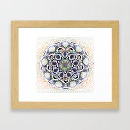 Boho Lace Love Mandala Framed Art Print