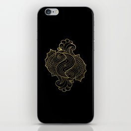 Pisces Gold iPhone Skin