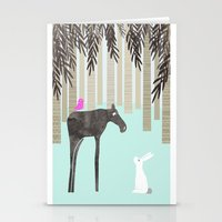 moose Stationery Cards featuring Moose by Dream Of Forest