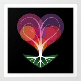 Tree of Love II Art Print