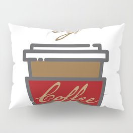 Caffeine Powered by Coffee funny coworker gift for office Pillow Sham