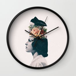 Blooming thoughts Wall Clock
