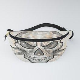 skull sketch design Fanny Pack