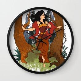 beautiful angel of ground java Wall Clock