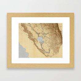Map of the San Joaquin, Sacramento and Tulare Valleys 1873 Framed Art Print