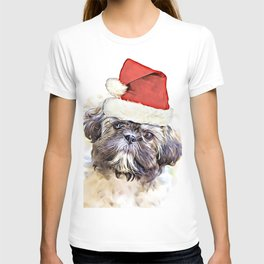 Christmas Shih Tzu puppy T-shirt