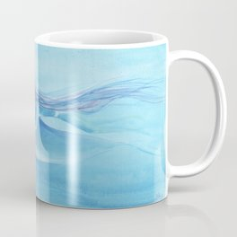 Blue Dolphin With Girl Transforming Into Mermaid Coffee Mug