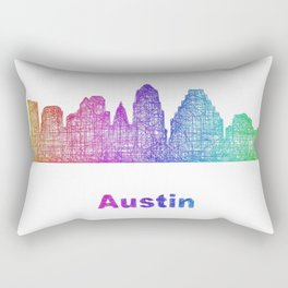 Rainbow Austin skyline Rectangular Pillow