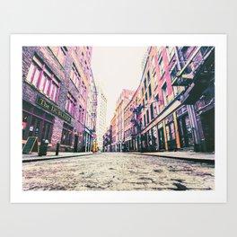 Stone Street - Financial District - New York City Art Print
