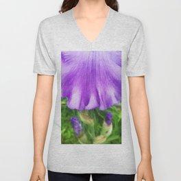 499 - Purple Iris Abstract Unisex V-Neck