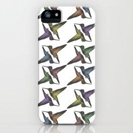 Hummingbirds Pattern iPhone Case