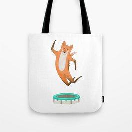 Trampolining Fox Tote Bag