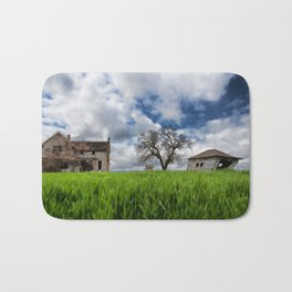 Old House In Field Bath Mat