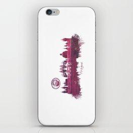Prague purple skyline iPhone Skin