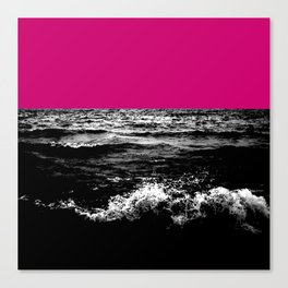 Black Wave w/Hot Pink Horizon Canvas Print