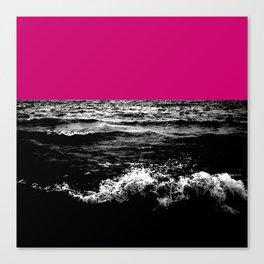 Black Wave w/Hot Pink Horizon Canvas Print