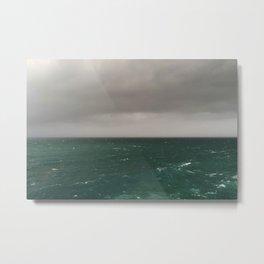 Stormy Winter Seas Metal Print