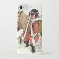 bouletcorp iPhone & iPod Cases featuring Kid Santa by Bouletcorp