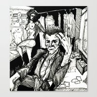 tom waits Canvas Prints featuring TOM WAITS by Simone Bellenoit : Art & Illustration