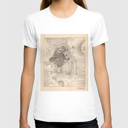 Vintage Map of Jerusalem Israel (1835) T-shirt