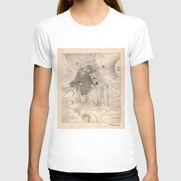 Vintage Map of Jerusalem Israel (1835) T-shirt