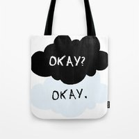 fault in our stars Tote Bags featuring The Fault In Our Stars by swiftstore
