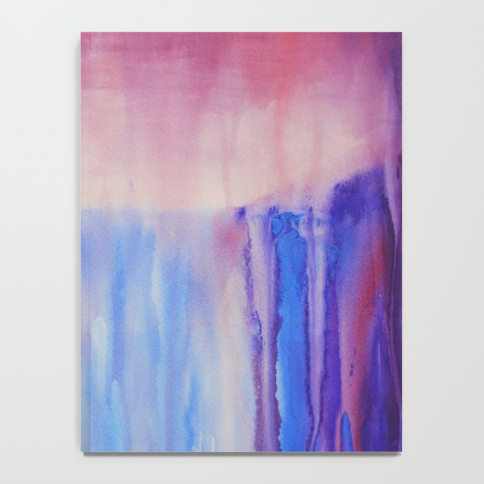 Waterfall, abstract watercolor Notebook
