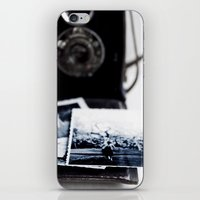 vintage camera iPhone & iPod Skins featuring camera by Ingrid Beddoes