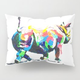 Rainbow Rhino Pillow Sham